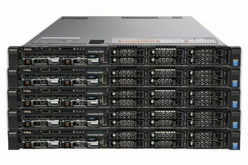 5x Dell PowerEdge R630 2x TEN CORE XEON E5-2650v3 2.3GHz 32GB 2x 300GB 1U Server